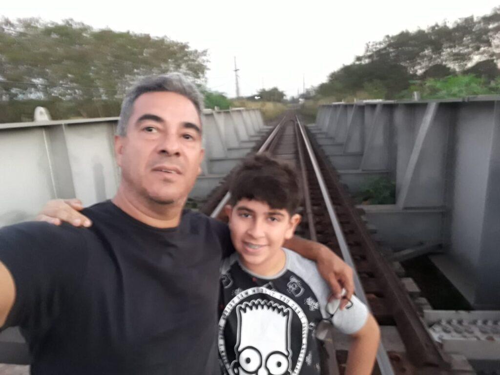 Ronaldo Torres Pereira e seu filho, Lucas