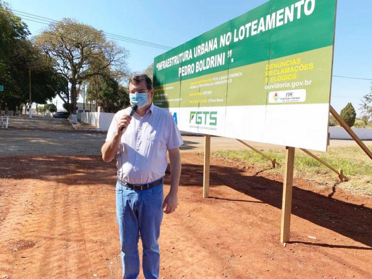 "Prefeitura inicia obras de infraestrutura no Distrito Industrial ""Pedro Boldrini"""